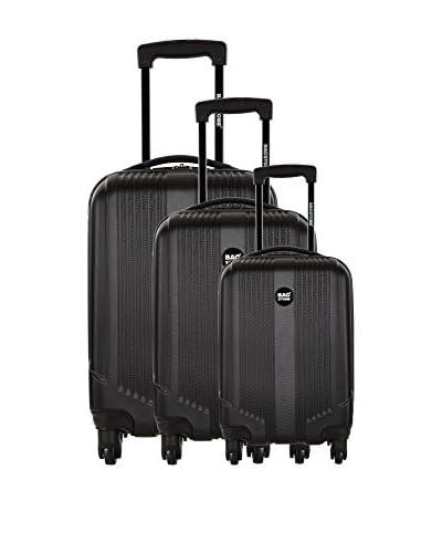Bag Stone Set de 3 trolleys rígidos Live Negro