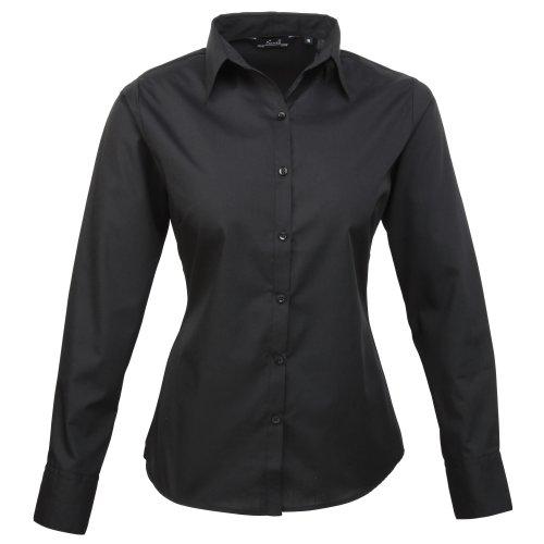 camisa-lisa-poplin-de-manga-larga-para-mujer
