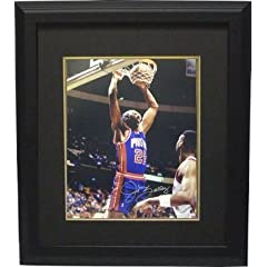 John Salley Autographed Hand Signed Detroit Pistons 16x20 Photo Custom Framed by Hall of Fame Memorabilia