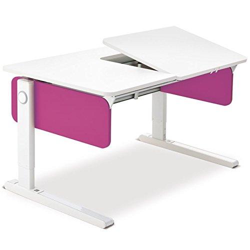 Moll Champion Style Right Up Schreibtisch | pink | 120 x 72 x 53-82 cm (Breite x Tiefe x Höhe)
