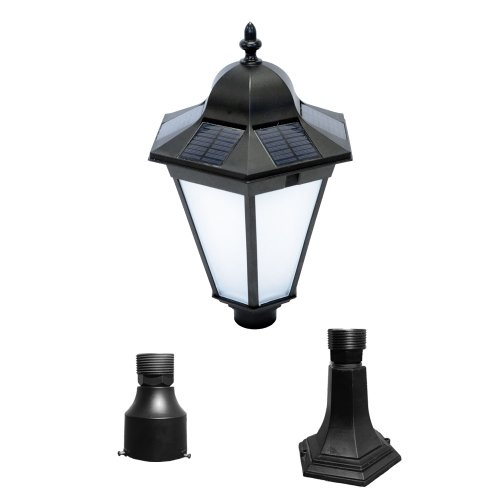 nature power 23201 essex solar lamp with 3 inch pole. Black Bedroom Furniture Sets. Home Design Ideas