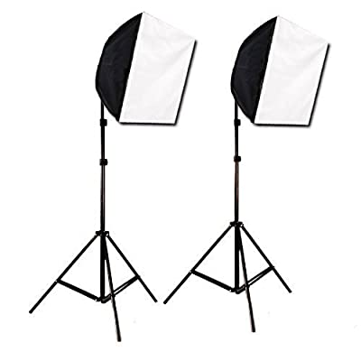 "Caltar Photography Continuous 24"" X 24"" Photo Studio Video Lighting Kit + Free Carrying Case To Fit the Whole Kit"