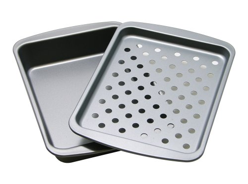 OvenStuff Non-Stick Personal Size Bake, Broil and Roast Set (Small Broiler Pans For Ovens compare prices)