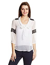 Anaphora Women's Bow Front Top (55983_White_XL)