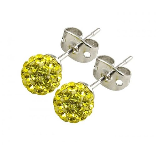 Tresor Paris 'Clecy' Yellow Crystal Earrings