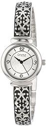 Caravelle by Bulova Women's 43L117 Silver-Tone Antiqued Bracelet Watch