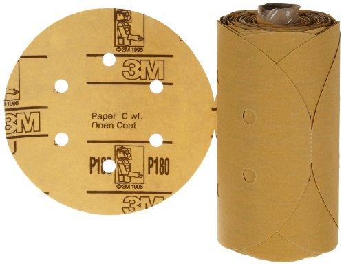 """3M Stikit Paper D/F Disc Roll 236U, Psa Attachment, Aluminum Oxide, 6"""" Diameter, P180 Grit (Pack Of 1) front-619177"""