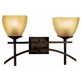 Yosemite Home Decor 94672VB Sentinel 17.5-Inch 2-Light Bathroom Vanity, Venetian Bronze