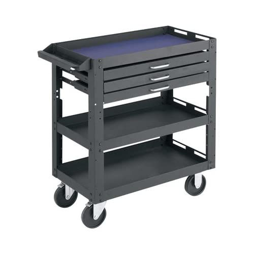 Amazon.com: Northern Industrial Tools 3-Shelf, 3-Drawer Work Cart