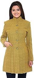 300 BC Women's Coat (BC12010YELLOW, Yellow, XL)