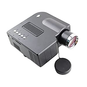 Vigrand Projector 80 Ansil Lumens Multimedia LED LCD Portable Black Projector with Music Photos Videos Compatible with Smart Phone for Iphone 4/4s,ipad,samsung Galaxy I9300,n7000,i9100, Support Hdmi & VGA Interface