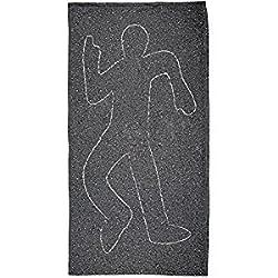 Crime Scene Chalk Outline Body All Over Plush Beach Towel