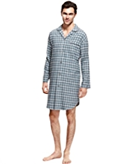 Pure Cotton Winceyette Checked Nightshirt