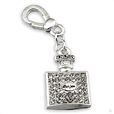 Mega Charm Bracelet Pendant Bottle with zirkonia #9620, extra large ! bracelet | handbag | phone charm discount price 2014
