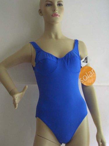 SOLAR schöner Bügel Badeanzug Gr. 40 A blau NEU