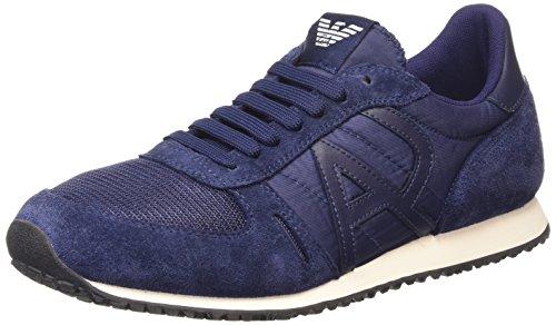 Armani Jeans Shoes & Bags DEB652432 - Sneaker uomo , Blu (Blau (BLU - BLUE)), 41