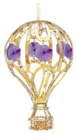 24k Gold Balloon Ornament… with Purple Swarovski Crystal