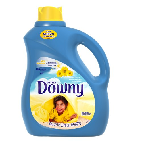 Downy Ultra Sun Blossom Liquid Fabric Softener 120 Loads, 103-Ounce Bottle