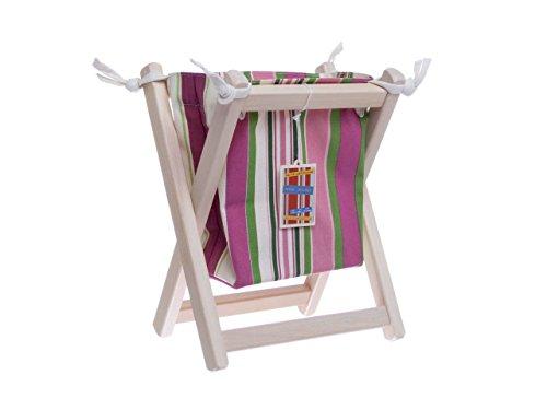 Fabric Book Magazine Holder Wooden Home Storage Decor Organizer Medium