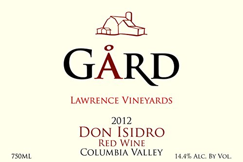 "2012 Gard Vintners ""Don Isidro"" Red Blend 750 Ml"