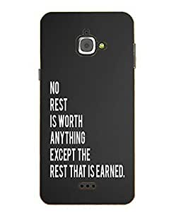 Make My Print Body Building Printed Grey Hard Back Cover For InFocus M350