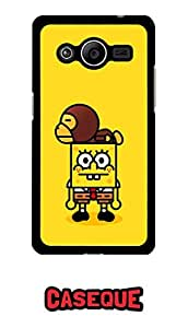 Caseque Angry SpongeBob Back Shell Case Cover For Samsung Galaxy Core 2