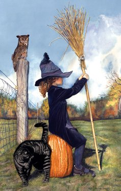 41cyEb mriL Cheap  Waiting for the Witching Hour 550pc Jigsaw Puzzle by W. D. Merrit