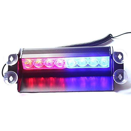 8-led-blu-lampeggiante-rosso-auto-wind-dash-strobe-emergenza-avvertimento-visor-lampadina-per-intern