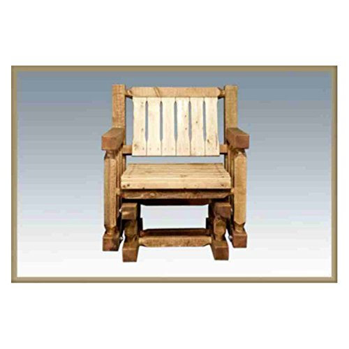 Montana Woodworks Homestead Collection Single Seat Glider, Clear Exterior Finish - 1