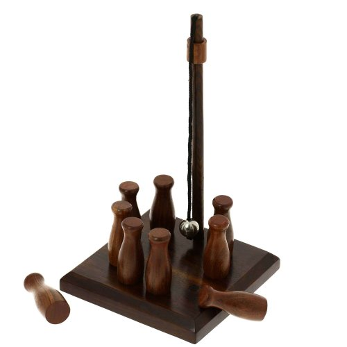 Bar skittles game wooden toys artisan handcrafted gifts