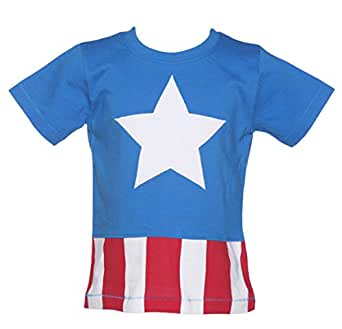 Kids Marvel Comics Captain America Costume T Shirt from Fabric Flavours