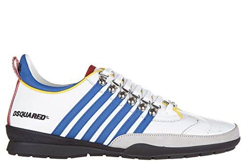 Dsquared2 Herrenschuhe Herren Leder Schuhe Sneakers 251 Weiß EU 46 W16SN131912M313 thumbnail