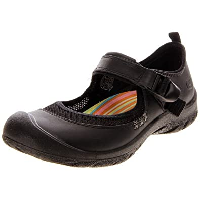 Keen Erin Women's Leather Mary Jane Shoes,Black,5
