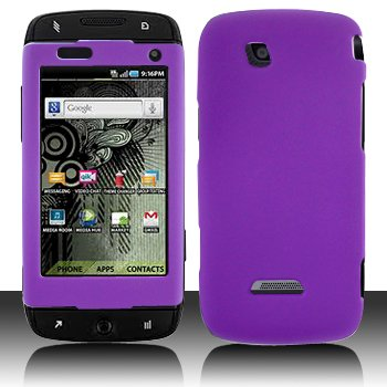 Purple Hard Plastic Rubberized Case Cover for Samsung Sidekick 4G T839