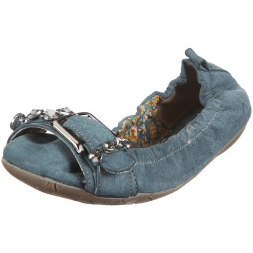 Hendrieke S1703-03 Damen Ballerinas Blau petrol 03 EU 39