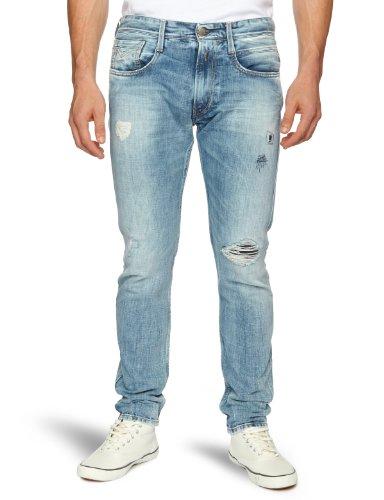 Replay Anbass Slim Men's Jeans Grey Denim W30 INXL34 IN