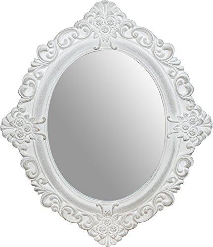 Specchiera da appendere 50x2x58 cm finitura bianco anticato
