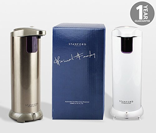 Stanford Homeware Premium Automatic Touchless Soap Dispenser (Hand Sanitizer) for Bathroom & Kitchen Countertops. Fingerprint Resistant Stainless Steel (Champagne) (Soap Dispenser Electronic compare prices)