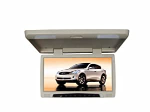 Tview T17DVFD-TN TFT Flip Down with Built-In DVD Player, USB and SD Slot (Tan)