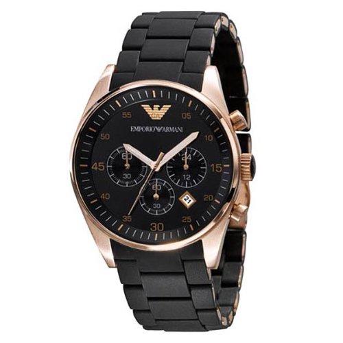 Armani Chronograph Bracelet Black Dial Men's Watch - AR5905