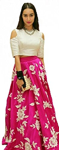 HMP-Fashion-womens-Silk-Machine-Work-Pink-Semi-Stitched-Bollywood-Designer-Lehenga-Cholipartywear-lehenga-choli-for-women