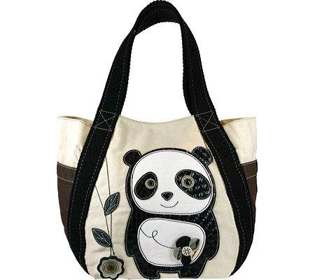 Chala Women's Dada Panda Carryall Tote Casual Handbag,White