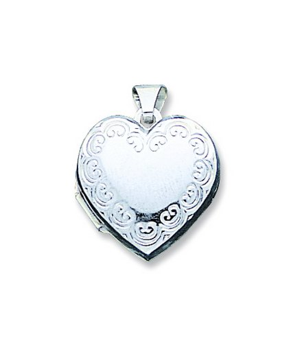 Sterling Silver Heart Locket. Metal Weight- 1.64g.