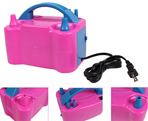 110V 600W High Power Electric Balloon Pump Two Nozzles Inflator Air Blower