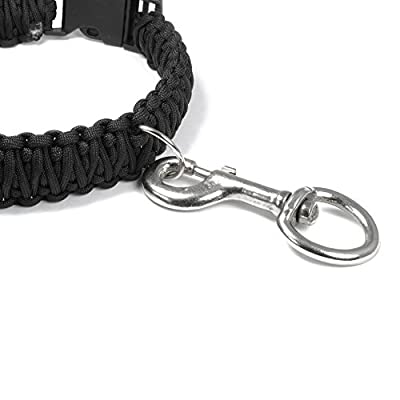 Set of 2 Lobster Clasp XL Heavy Duty Steel Swivel for Dog Leads/Paracord Keychain and more - Ganzoo