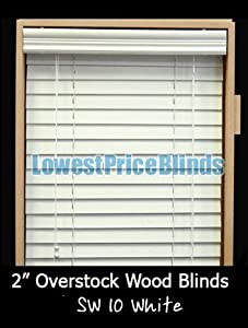 "Overstock Wood Blinds 70"" x 40"""