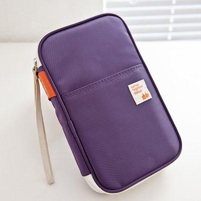 KINGLAKE® Passport Wallets Organizer Durable Waterproof Travel Wallet Purse with Hand Strap Zip Closure Document Organizer Passport Ticket Credit ID card Cash Holder Case