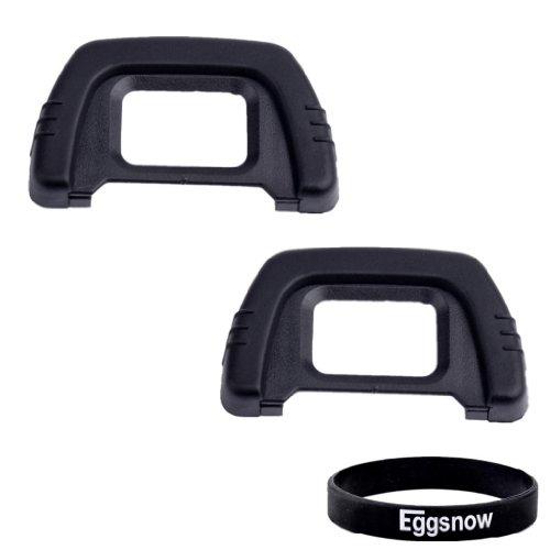 Eggsnow (2-pack) Eyepiece Eyecup Eye Cup for Nikon D7000,D300,D200,D100,D90,D80,D40,D50,D70s,D600,D610 Dslr Cameras
