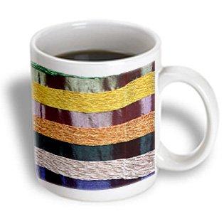 Danita Delimont - Textiles - Woven Moroccan Silk Textiles, Fes, Morocco, Africa - Af29 Kwi0079 - Kymri Wilt - 11Oz Mug (Mug_132000_1)