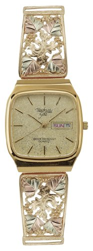 Black Hills Gold Champagne Dial Day and Date Mens Watch 9-WB32 (Coleman Mens Watch compare prices)